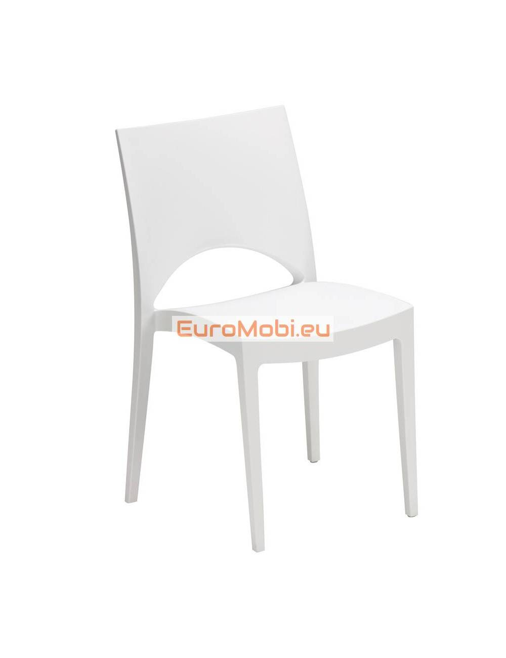 Cuzy stacking chair white