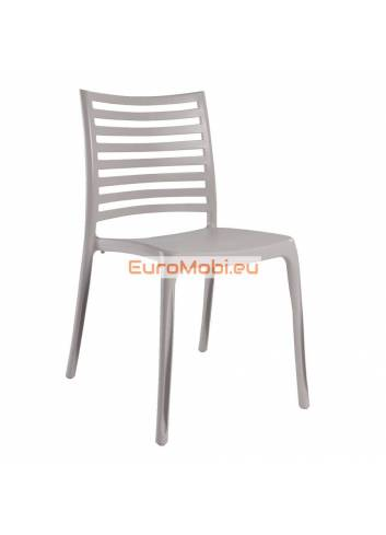 Chaise empilable Cuzy brune