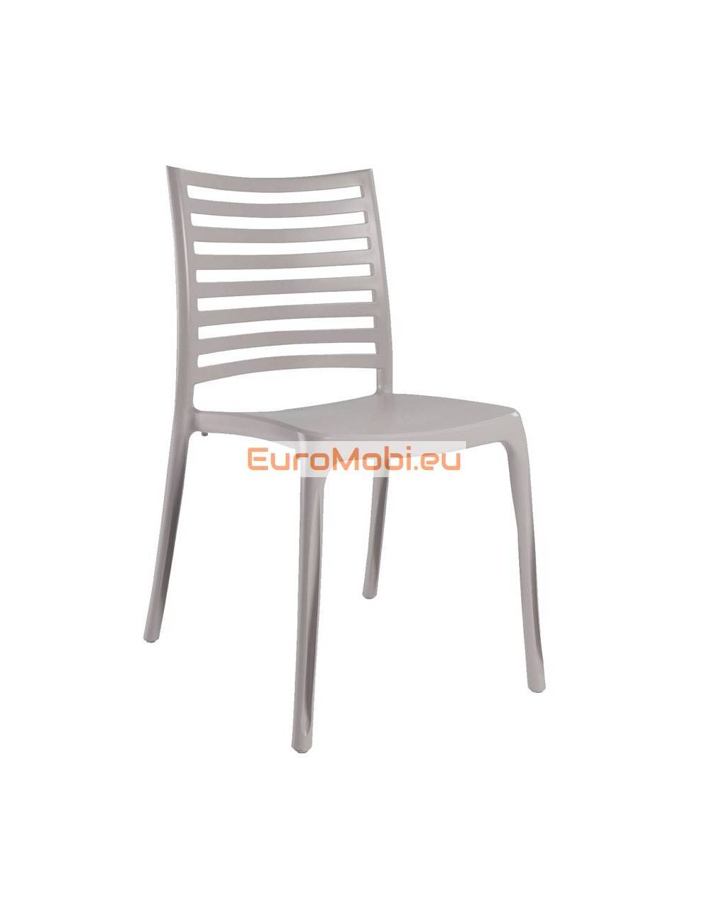 Stacking Chair Milan Frame Linen Polypropylene