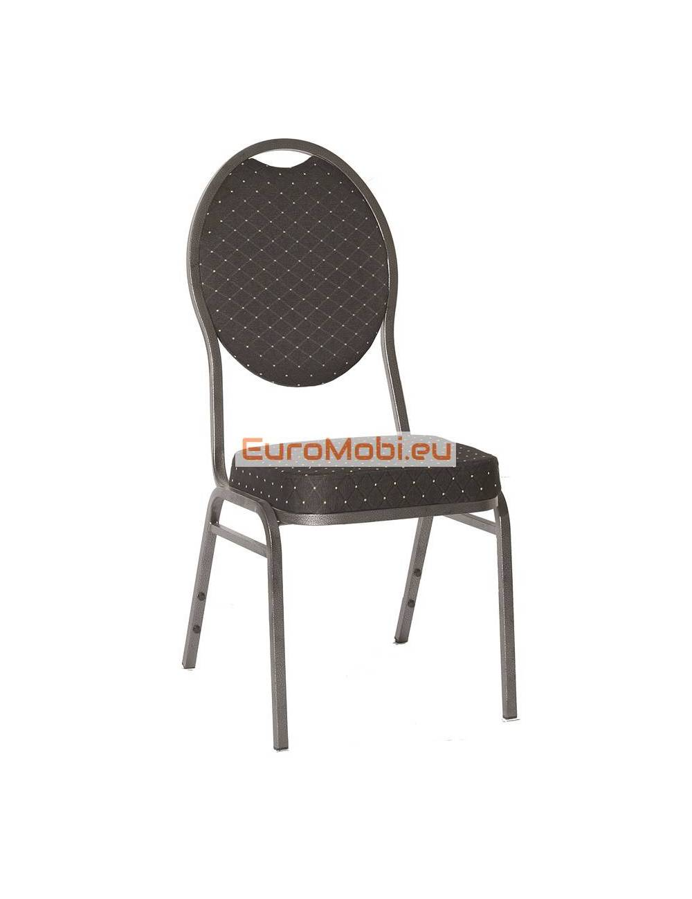 Stacking chair Wellington gray hammered black