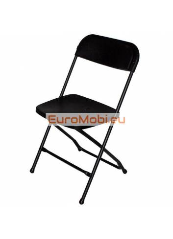 Folding chair Cluny black - black open