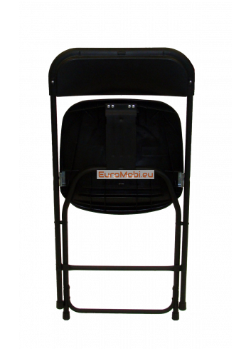 Folding chair Cluny black - black folded