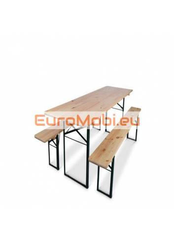 table and benches set