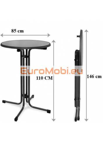 size of the standing table
