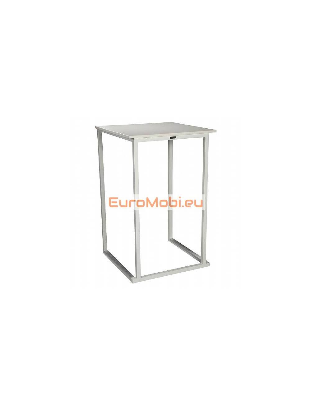 standing table Moma Square white 70 X 70 cm
