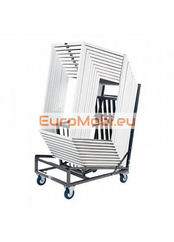 stackable standing table trolley