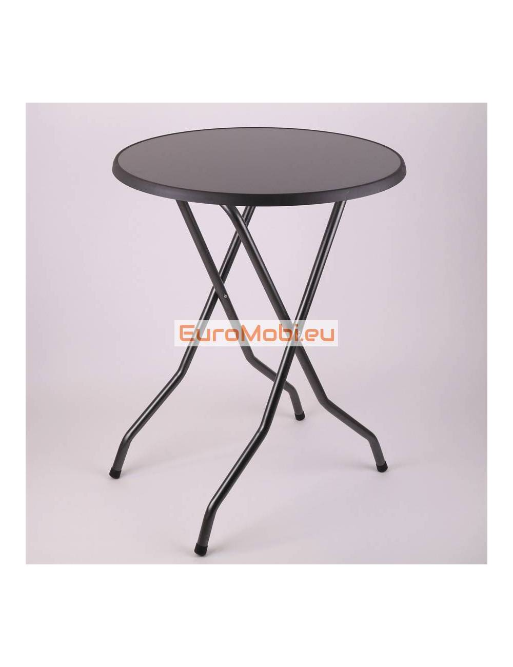 Melin Anthracite standing table Ø80cm open