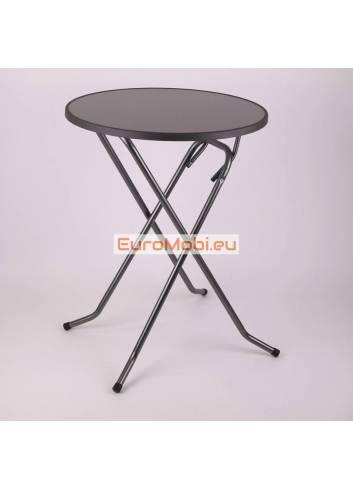 """Table """"mange-debout"""" Mater Antracite Ø80cm"""