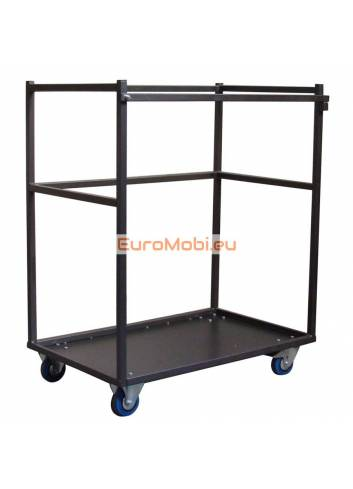 Small transport trolley for standing tables Melin empty