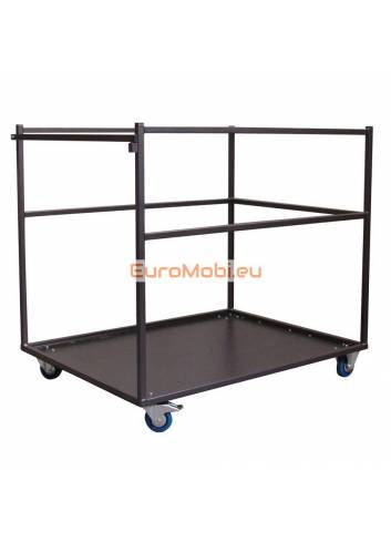Large transport trolley for standing tables Melin empty