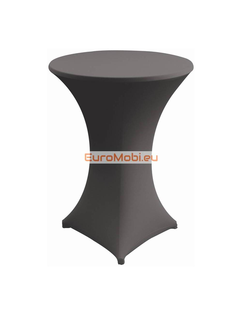 Cover and top stretch for standing table round grey
