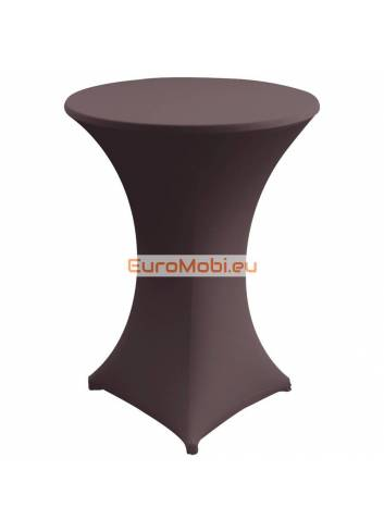 Cover and top stretch for standing table round brown dark