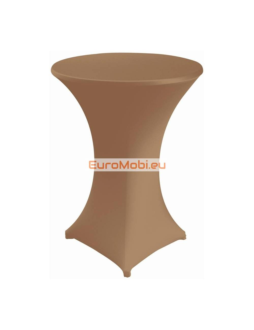 Cover and top stretch for standing table round brown