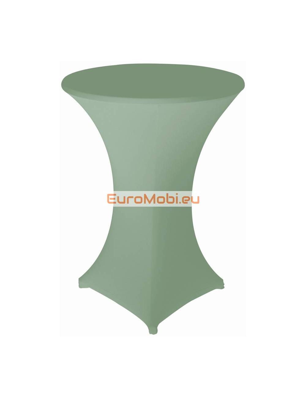 Cover and top stretch for standing table round dark green