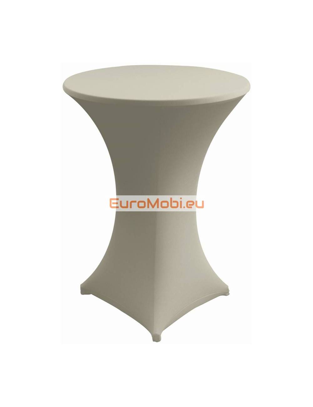 Cover and top stretch for standing table round migth grey