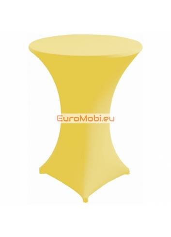 Cover and top stretch for standing table round yellow