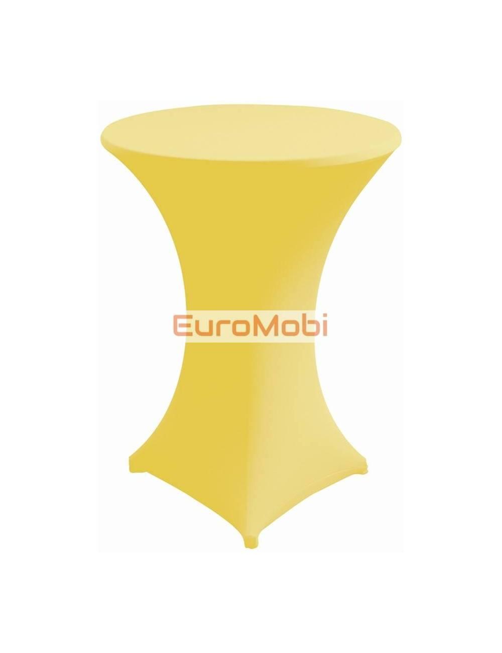 Nappe extensible pour table debout  jaune