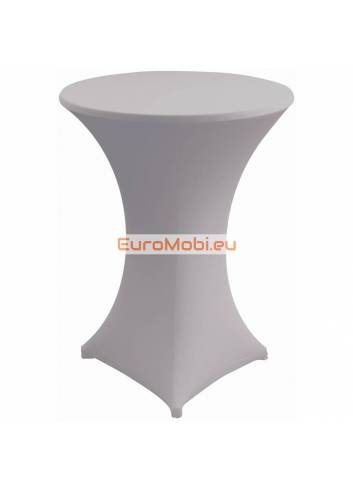 Cover and top stretch for standing table round ligth grey