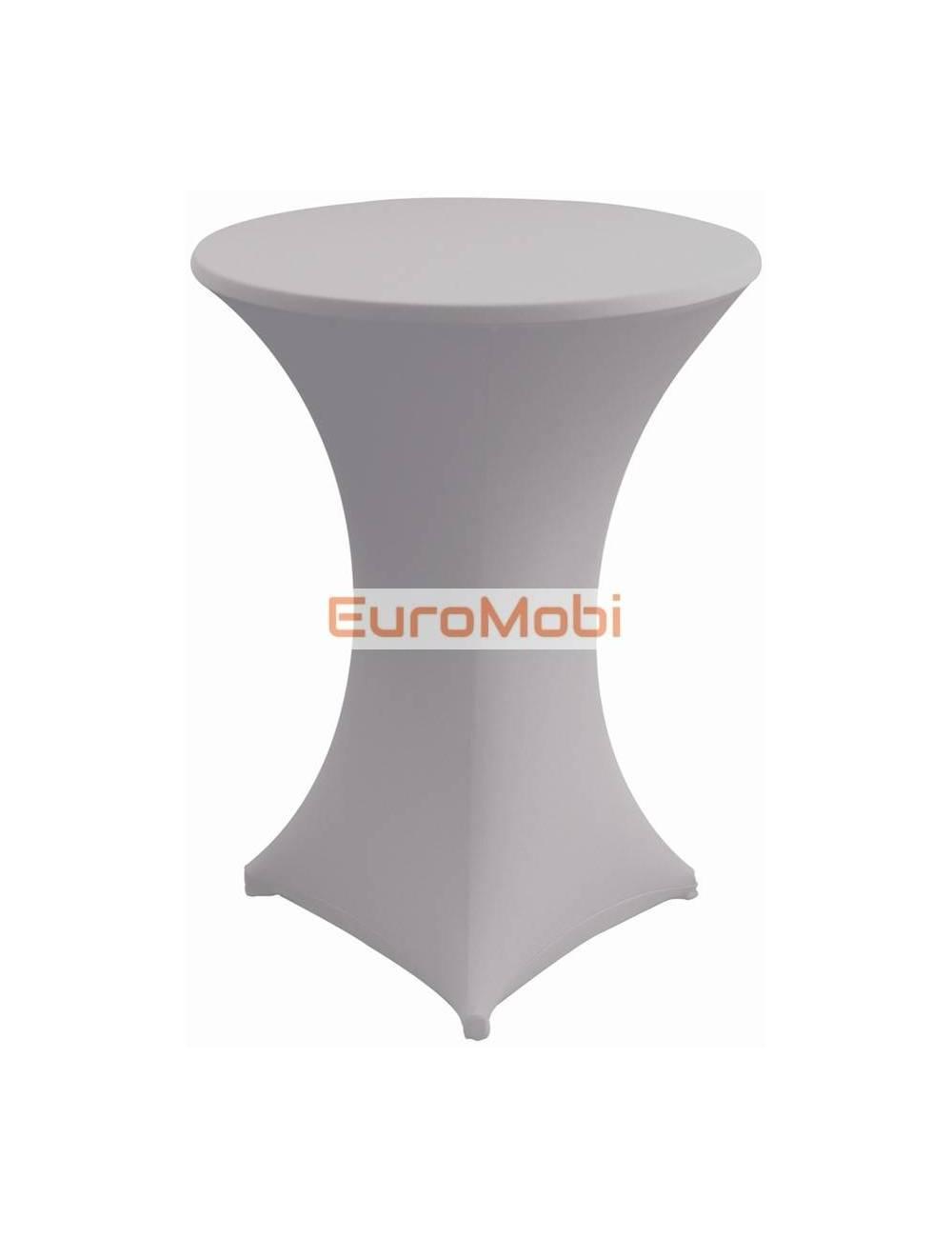 Nappe extensible pour table debout  gris