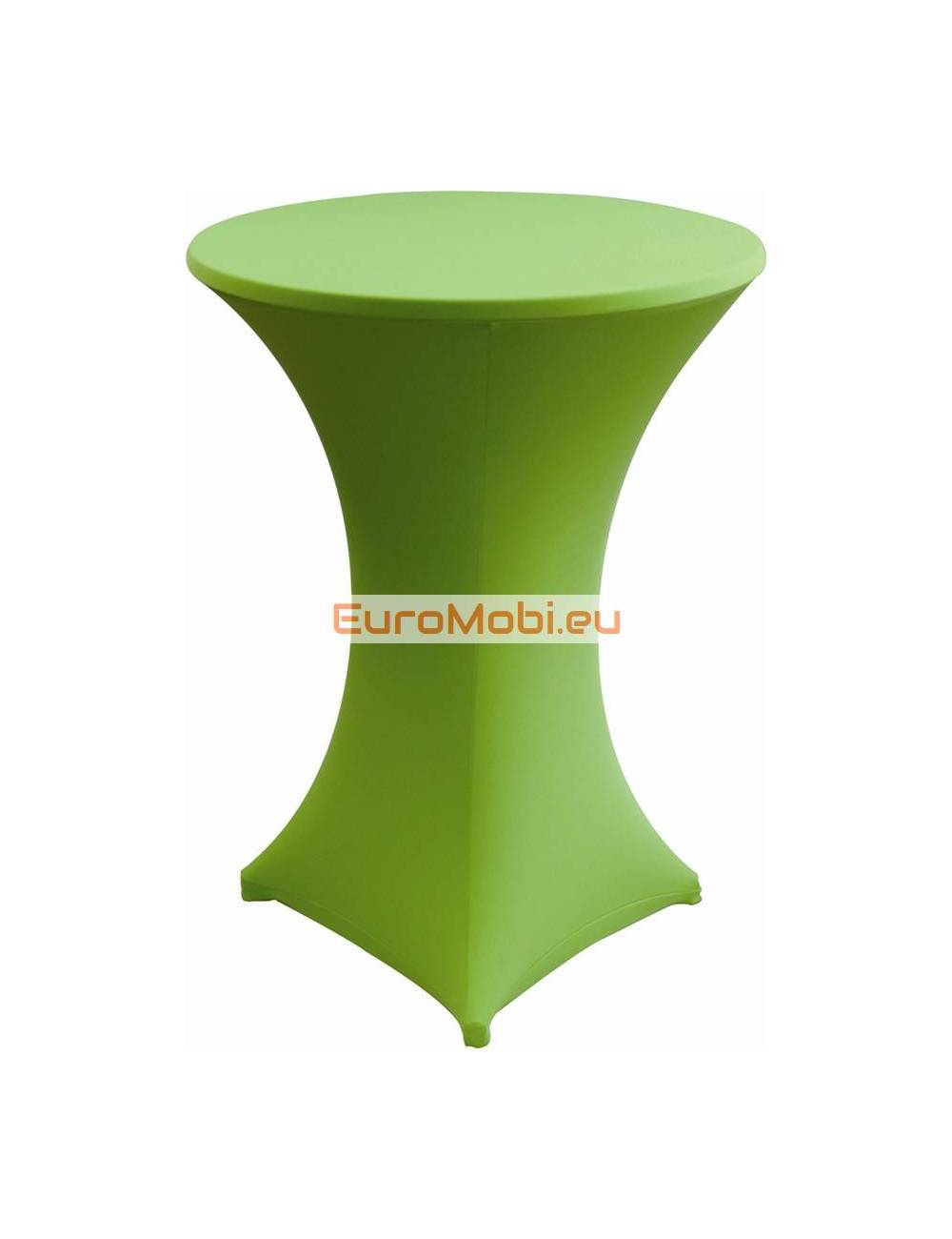 Cover and top stretch for standing table round green ligth