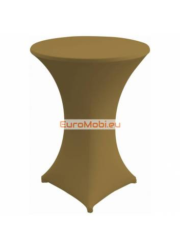 Cover and top stretch for standing table round brown2