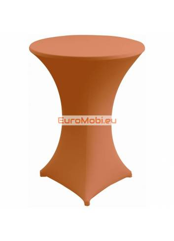 Cover and top stretch for standing table round orange