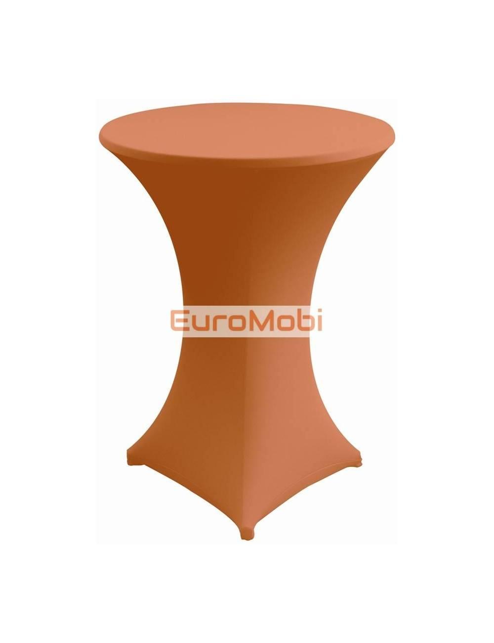 Nappe extensible pour table debout  orange