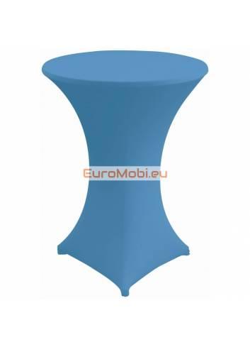 Nappe extensible pour table debout  bleu clair