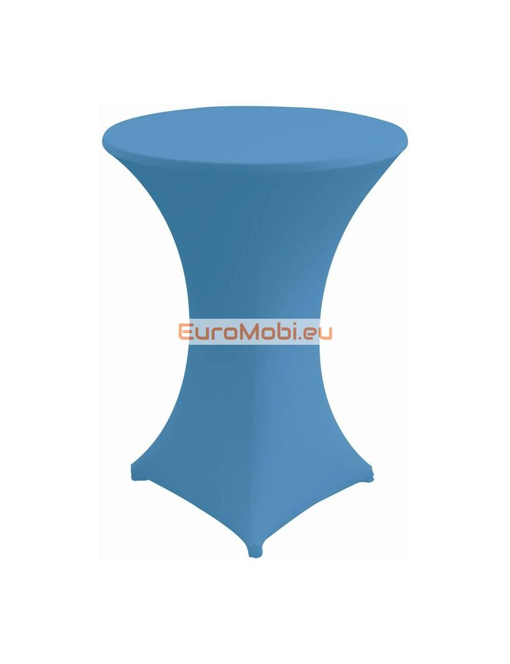 Cover and top stretch for standing table round ligth blue