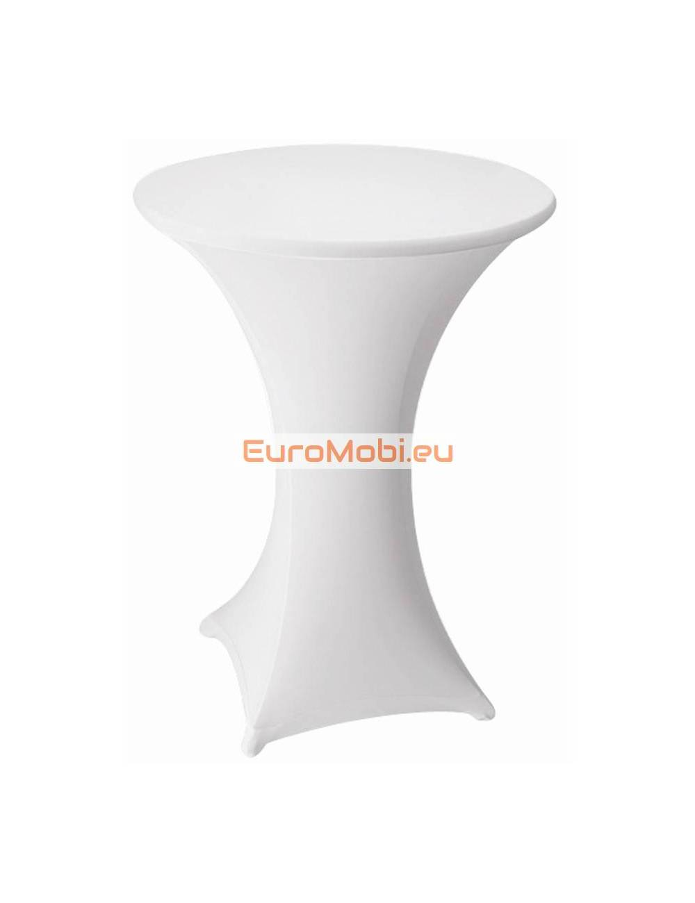 Cover and top stretch for standing table round white