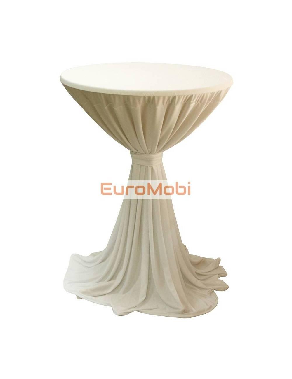 Nappe Porto extensible pour table debout ecru