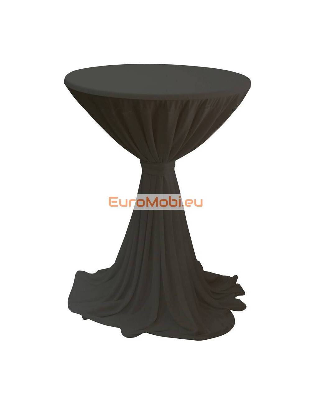 Porto cover and top stretch for standing table round black