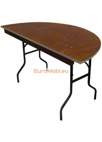 Tacoma folding table bent 140 x 76 cm (hemisphere)round