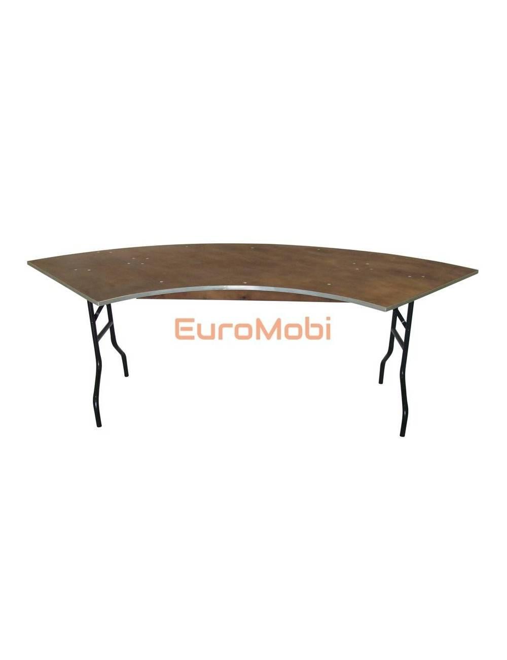 Tacoma folding table bent 236 x 76cm (bent) round unfolded