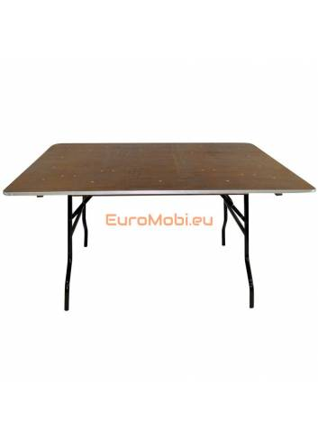 Tacoma table pliante carrée 153 x 153cm ouverte