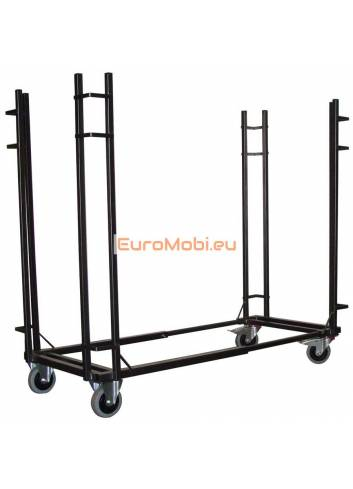 Transport trolley folding tables Tacoma rectangular to length 183cm empty