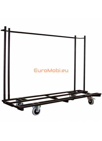 Transport trolley folding tables Tacoma rectangular length 220 cm empty