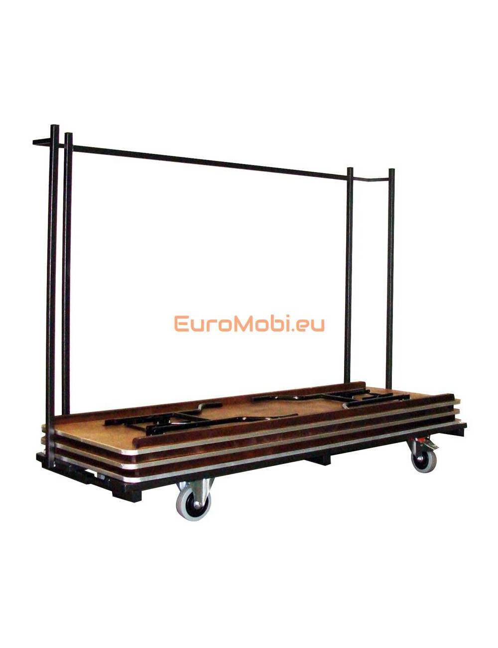 Transport trolley folding tables Tacoma rectangular length 220 cm full