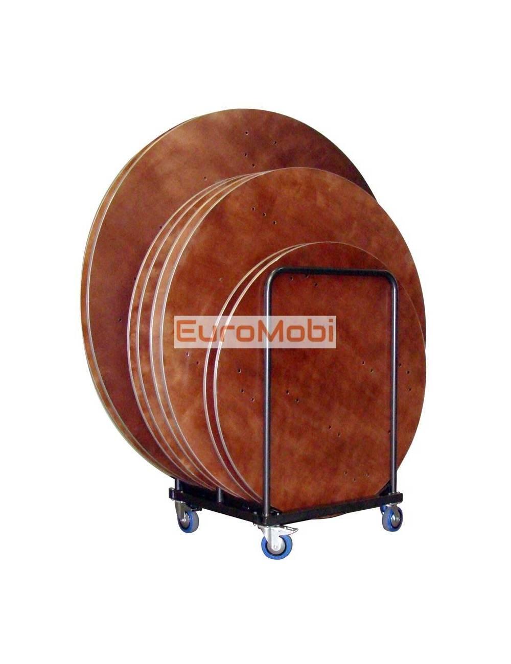 Chariot de transport pour tables pliantes Tacoma (demi) rondes et carrées plein