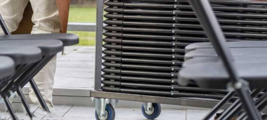 Chariots pour chaises pliantes