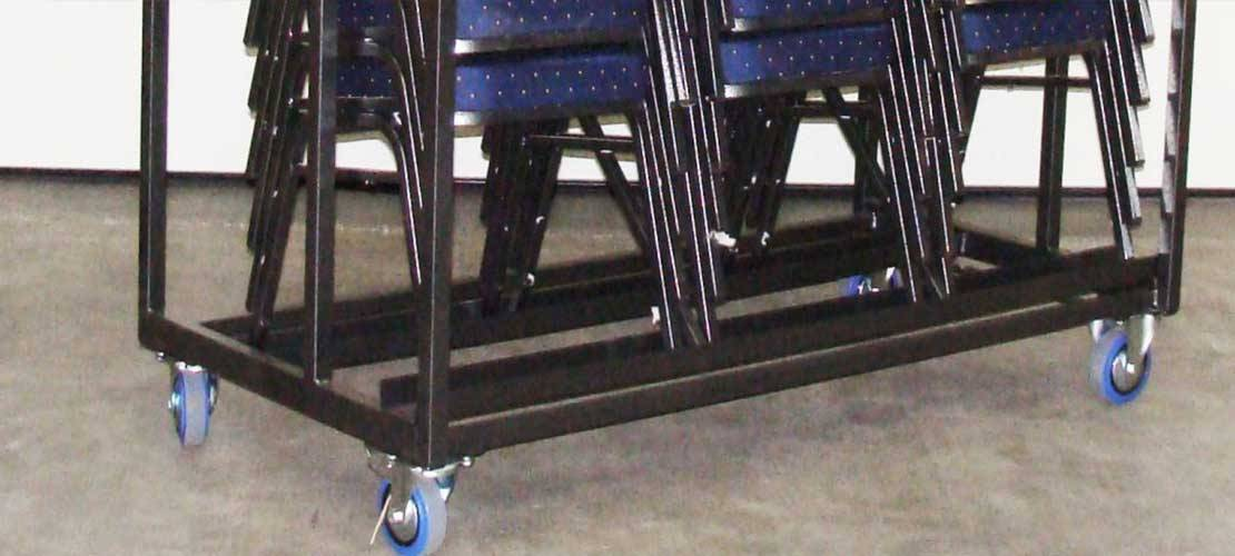Transport carts for stacking chairs