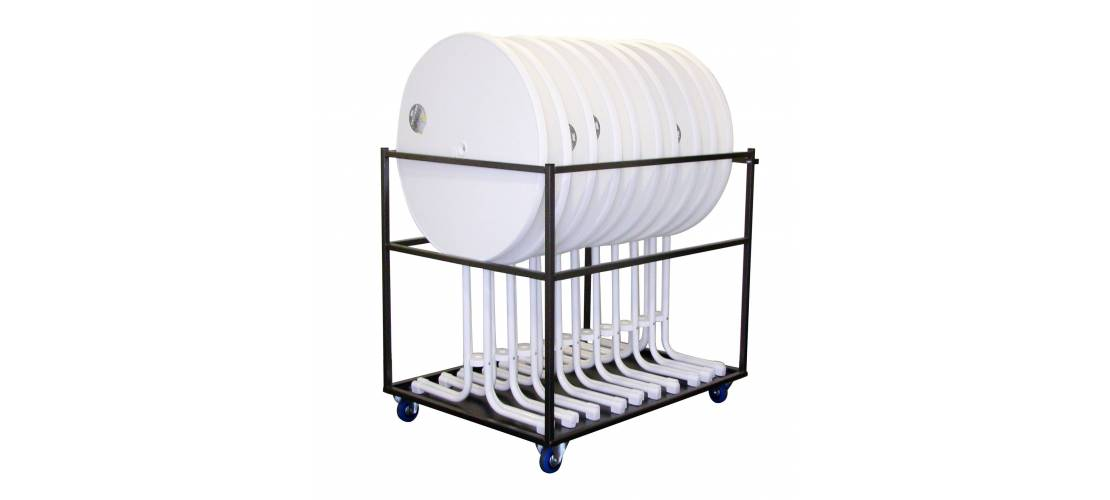 Transport carts for standing tables