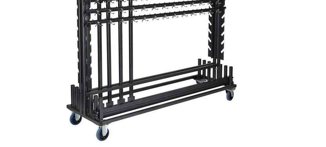 Transport carts for clothes racks