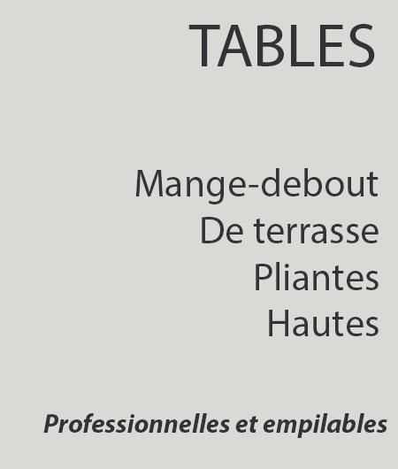 Catégorie table pliantes mange debout de terrasse