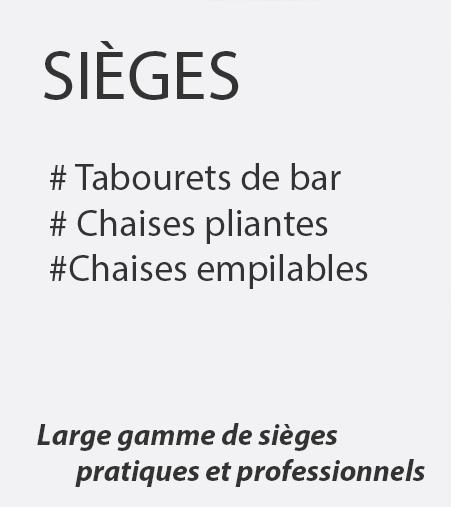 Sieges tabourets pliants et empilables